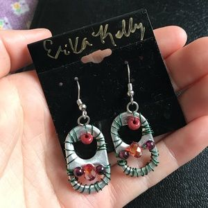 Upcycled bottle top earrings reduce reuse recycle